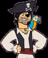 Chris in a pirate costume