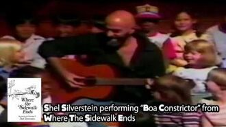 """Shel Silverstein performs """"Boa Constrictor"""" from Where the Sidewalk Ends - The Thinkpierce Store"""