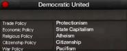 Democratic United views