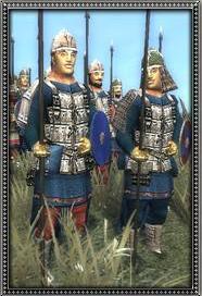 Dismounted Tartar Lancers