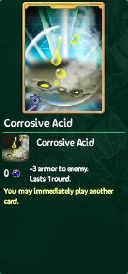 Corrosive acid