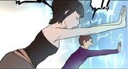 Serena and ship pushing shinsoo barrier