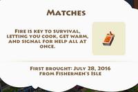 Matches Artifact