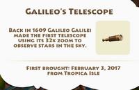 Galileo's Telescope Artifact