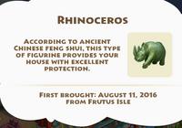 Rhinoceros Artifact