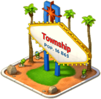 Town of Lights Town Sign
