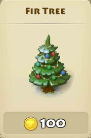 Fir tree winter