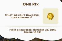 One Rix Artifact