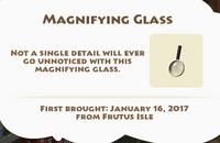 Magnifying Glass Artifact