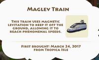 Maglev Train Artifact