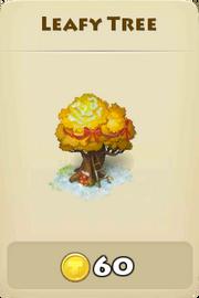 Leafy tree winter