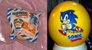 Sonic 3 Sonic ball Happy Meal toy