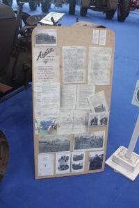 Austin model R tractor info board at Newark 08 - IMG 3576