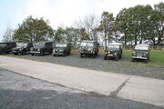 Military vehicle line at NCMM 09 - IMG 5374