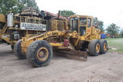 Aveling-Barford grader at SE Davis 11 - IMG 9136
