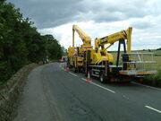Facelift aerial platforms for TV News crews - Sheffield Ulley Dam Disaster 07 - DSCF0302