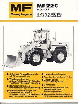 MF 22c wheel loader