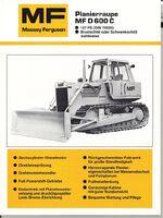MF D 600C crawler b&w brochure