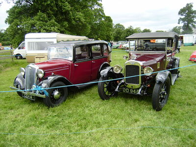 Wolseley CEH 14 and Austin DD 9467 at Shugborough 08 - P6220150