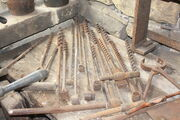 Hand augers at Wortley Top Forge 2010 - IMG 0097