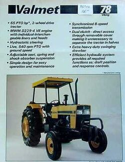 Valmet 78 Viking (yellow) - 1985