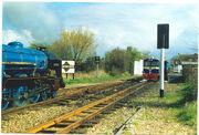 Romney Hythe and Dmychurch trains at Dymchurch