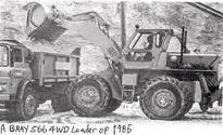 A 1980s BRAY 566 4WD Diesel Loader