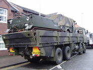 Foden Military truck from rear