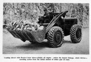 A 1959 weatherill 1H loader with lister rootes oil engine