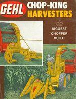 Gehl Chop-King forage harvester brochure