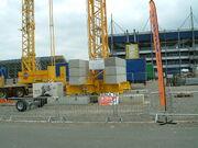 Potain crane base at SED 07 - DSCF0001