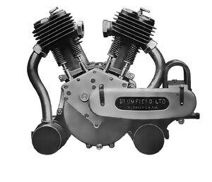 Blumfield V-twin motorcycle engine