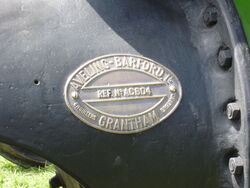 Aveling-Barford brass makers plate