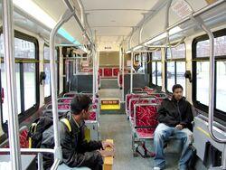 Blacksburg Transit New Flyer low floor bus interior