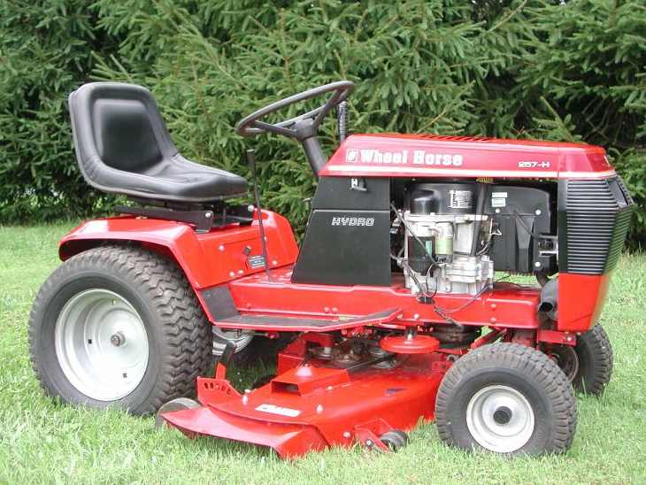 wheel horse 257 h tractor   construction plant wiki