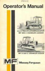 MF 600C & D 600C crawler b&w operator's manual