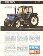 Ebro 8110 MFWD (Kubota) brochure