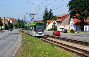 Abzweig Wiesenhügel lijn3 MGT6DE