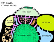 A basic map of Level Five.
