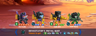 T devastators metal war x scrapper hook x