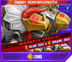 P rowdy reinforcement sos dinobots