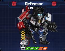 A E Com - Defensor pose