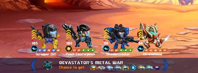 T devastators metal war scrapper xxx