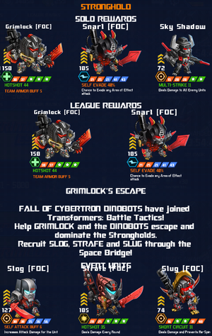 Event Grimlocks Escape