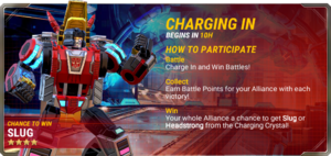 Ui event pre charging in a