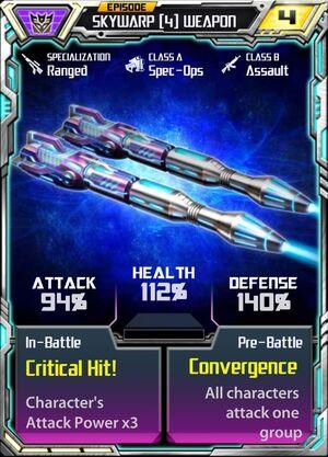 Skywarp (4) Weapon