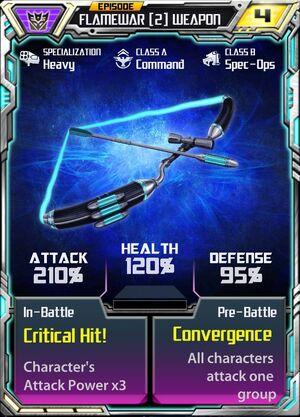 Flamewar (2) Weapon