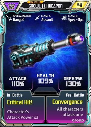 Growl (1) Weapon