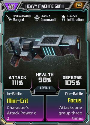 Heavy Machine Gun II Decepticon