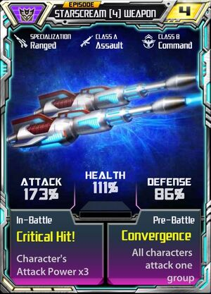 Starscream (4) Weapon